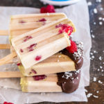 Coconut Raspberry Protein Popsicles