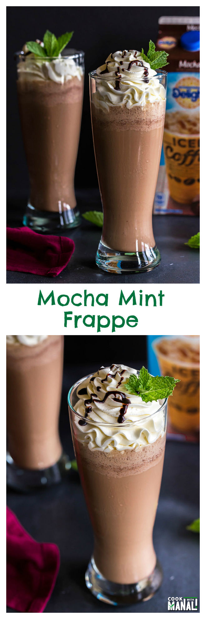 Iced Mocha Mint Frappe-Collage