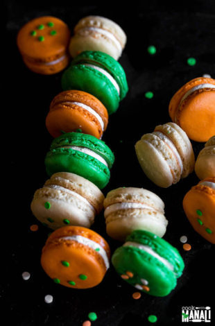 Indian Tricolor Macarons