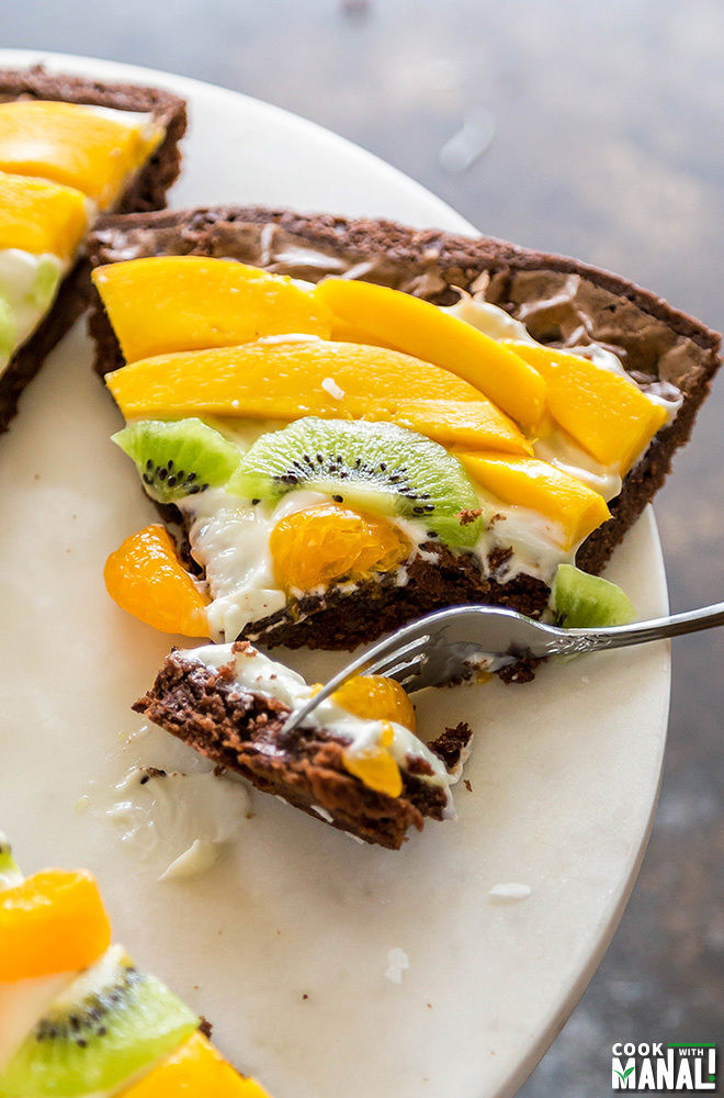 Tropical Fruit Brownie Pizza-1