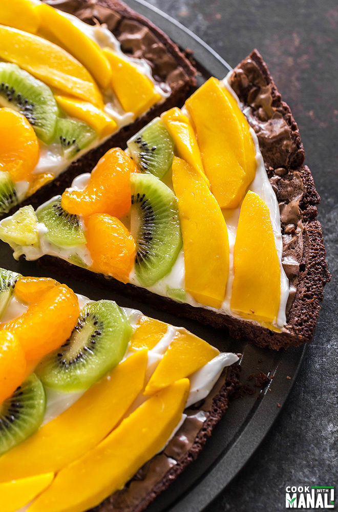 Tropical Fruit Brownie Pizza-2