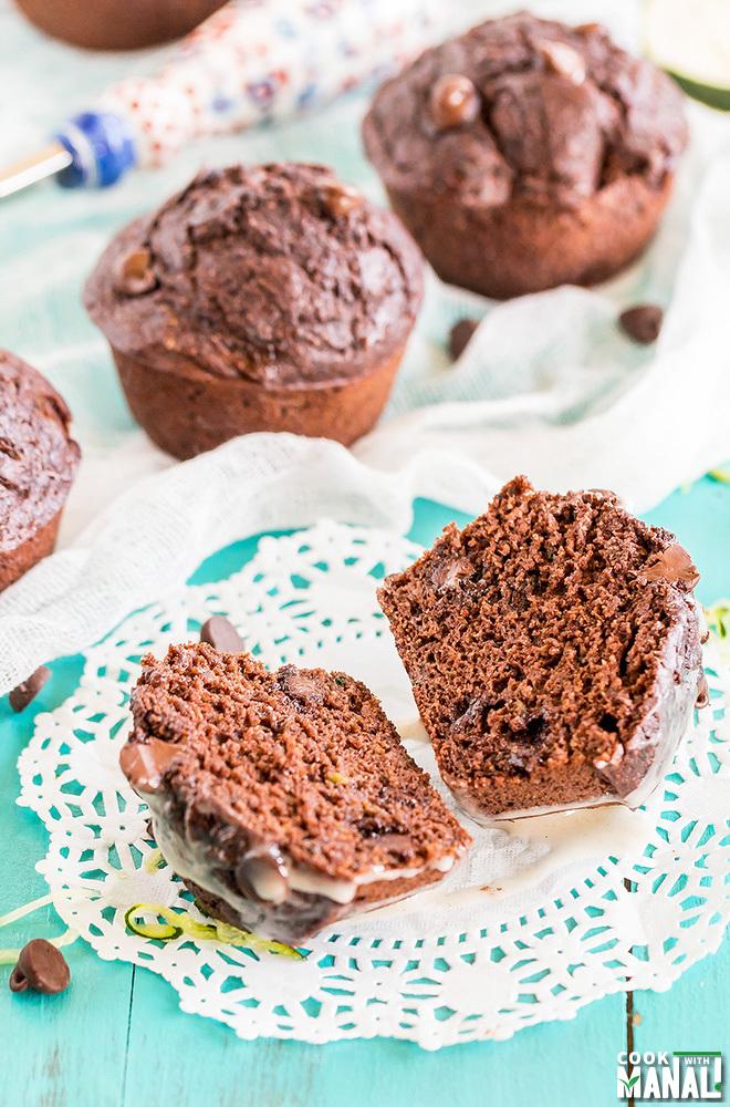 Zucchini Chocolate Muffins Recipe