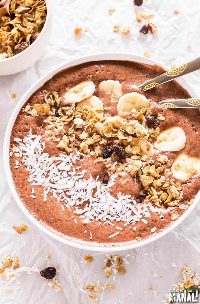 Banana Chocolate Smoothie Bowl Recipe