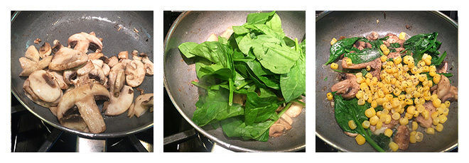 Mushroom-Spinach-Corn-Toast-Recipe-Step-1