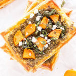 sweet potato pesto tart