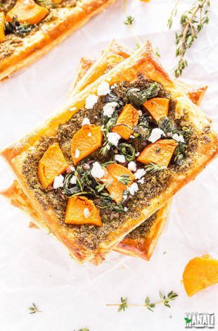 sweet potato pesto tart