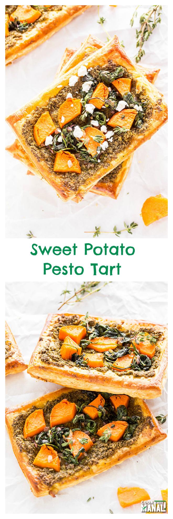 sweet-potato-pesto-tart-collage
