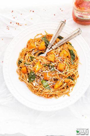 butternut-squash-spinach-pasta