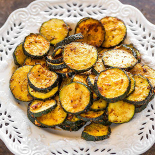 Spicy Roasted Zucchini