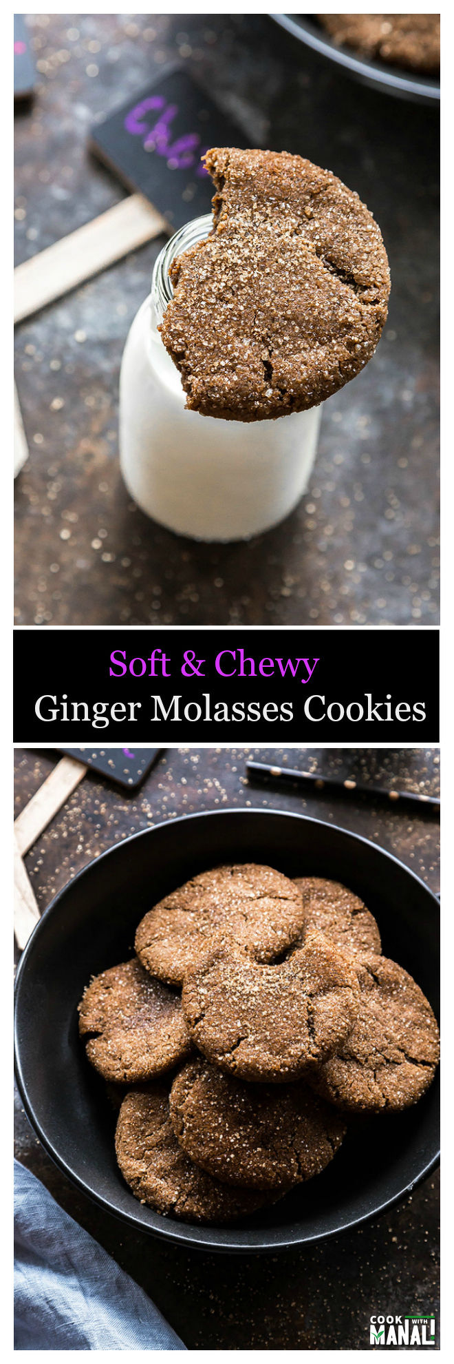 chewy-ginger-molasses-cookies-collage