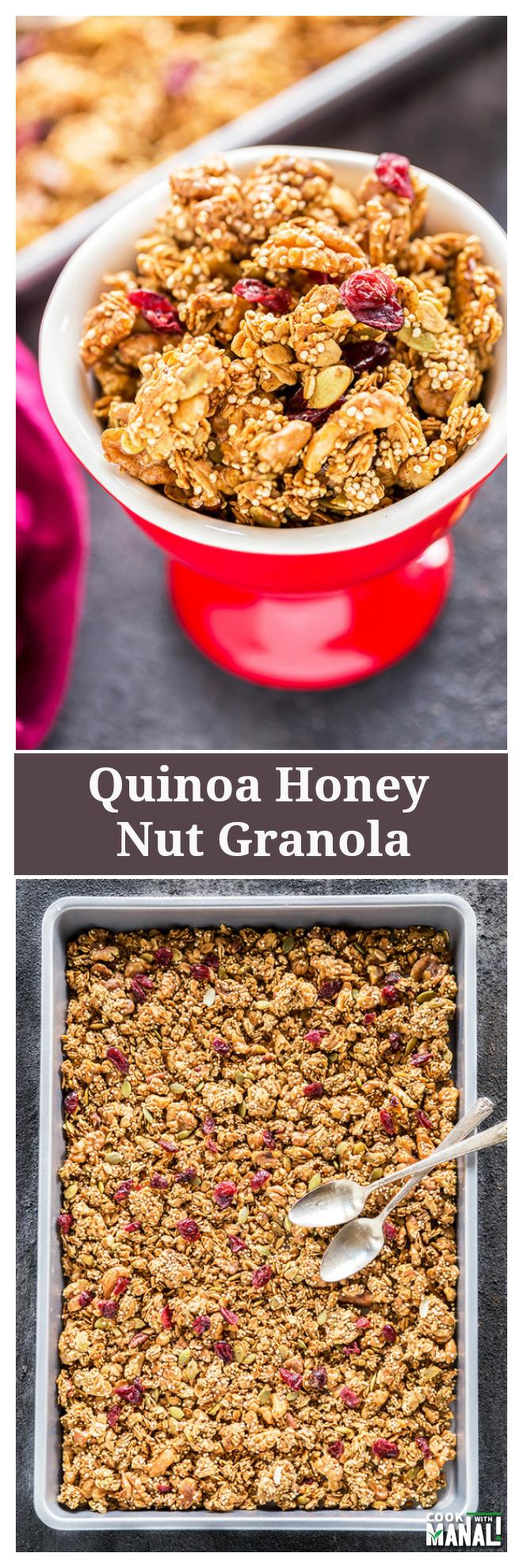 quinoa-honey-nut-granola-collage