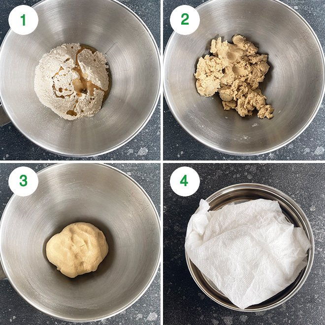 step by step picture collage of making aloo paratha