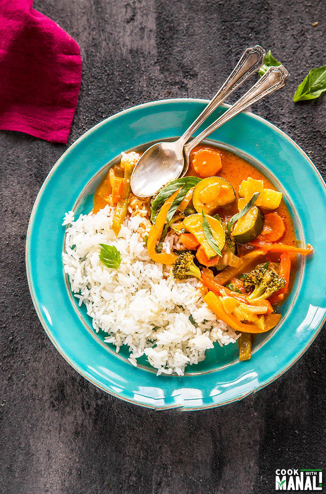 Vegetarian thai red curry video cook with manali the main ingredients of the thai red curry is of course the thai red curry paste now you can make it at home it sure will taste so much better than store forumfinder Choice Image
