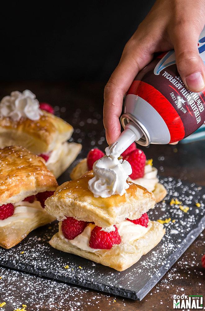 Lemon Raspberry Cheesecake Puffs