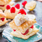 Lemon Raspberry Cheesecake Puffs
