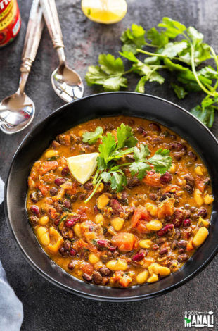 three bean curry