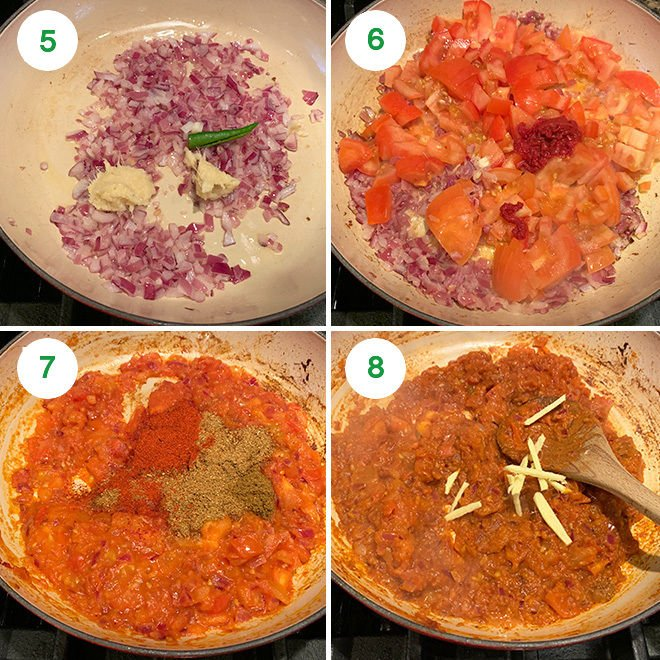 step by step pictures of making kadai paneer at home