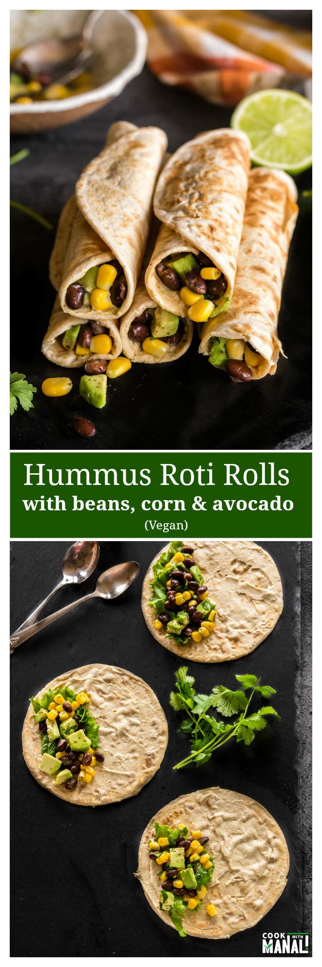 hummus roti rolls