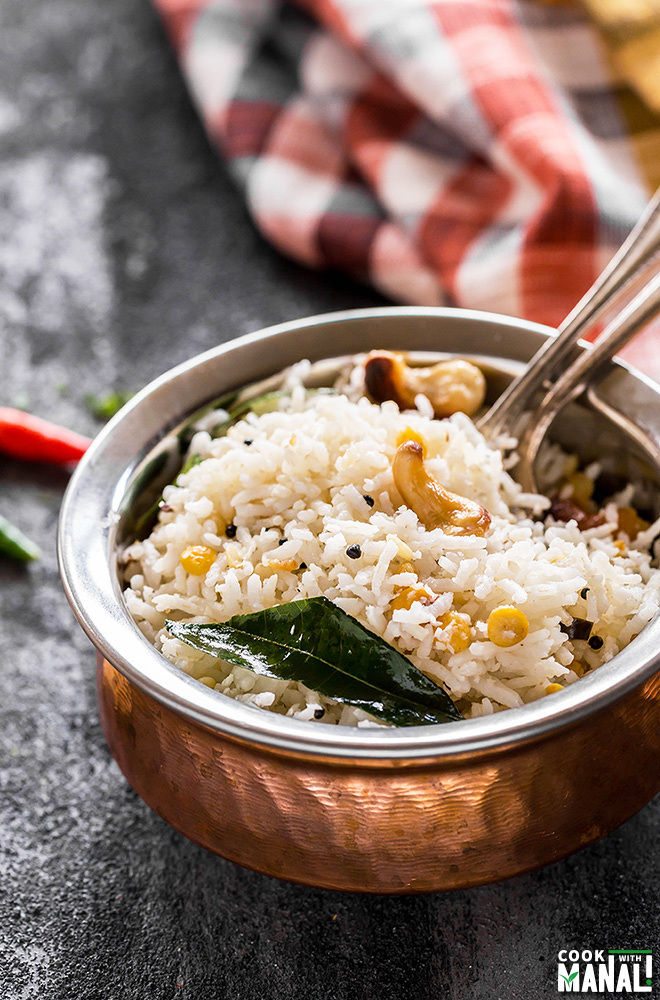 South Indian Coconut Rice - Cook With Manali