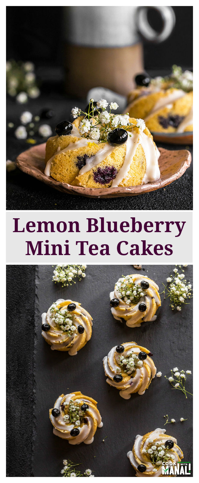Lemon Blueberry Tea Cakes - Cook With Manali
