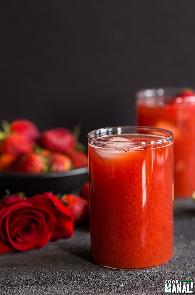 strawberry rose iced tea