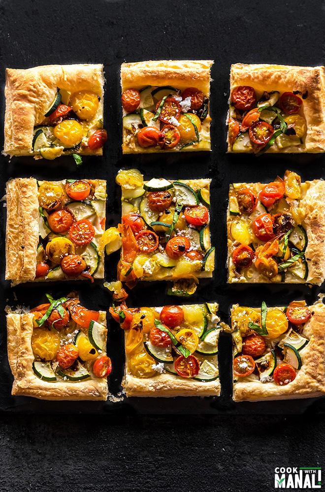 zucchini tomato tart