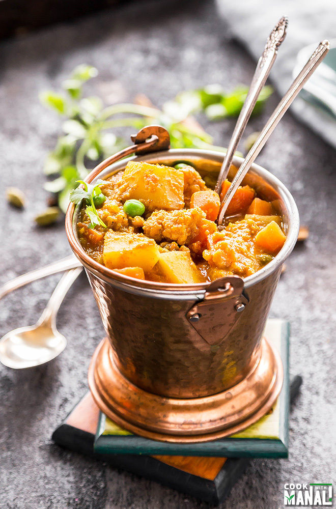 restaurant style vegetable kurma
