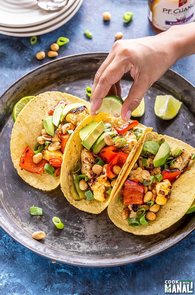 grilled cauliflower tacos