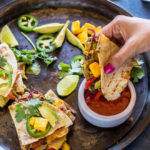 avocado mango black bean quesadillas