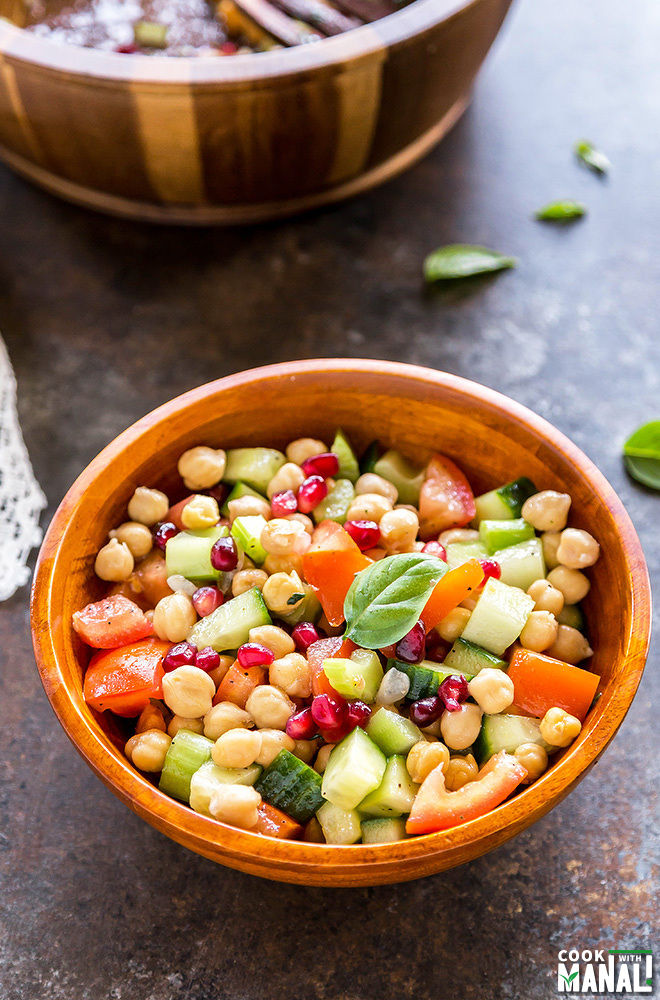 Chickpea Tomato Cucumber Salad