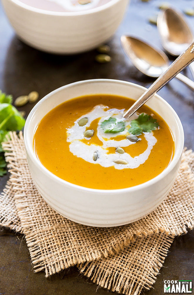 curried butternut squash apple soup