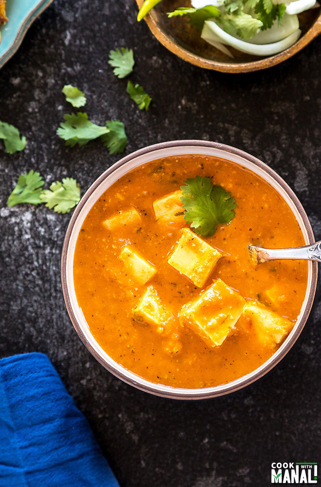 restaurant style butter paneer made in the Instant pot