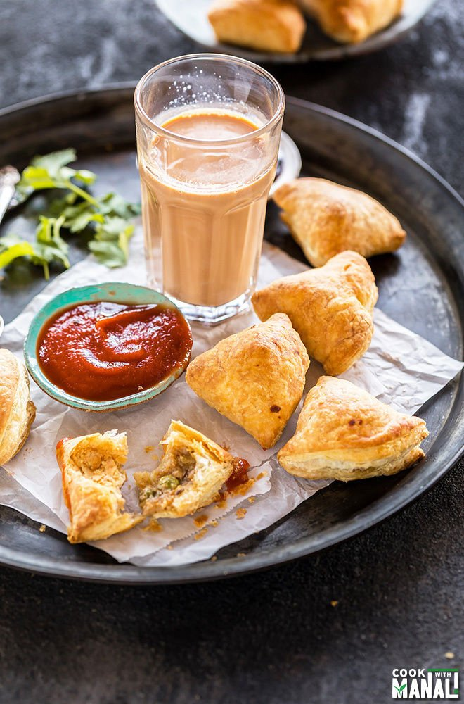 Puff Pastry Samosa - Cook With Manali