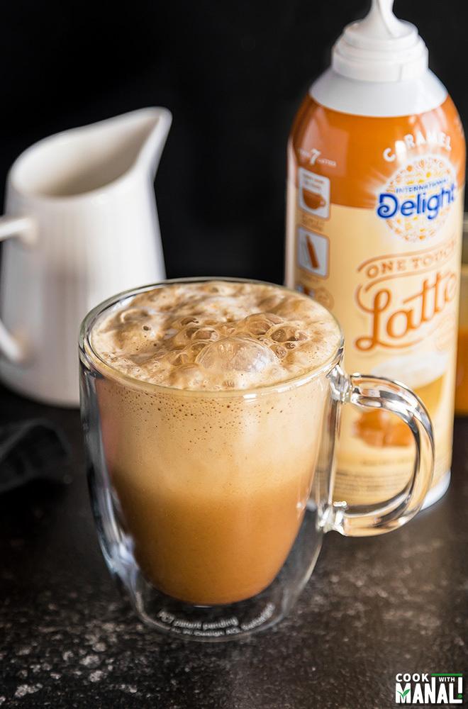 Pumpkin Salted Caramel Latte - Cook With Manali