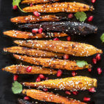 chipotle and maple roasted carrots