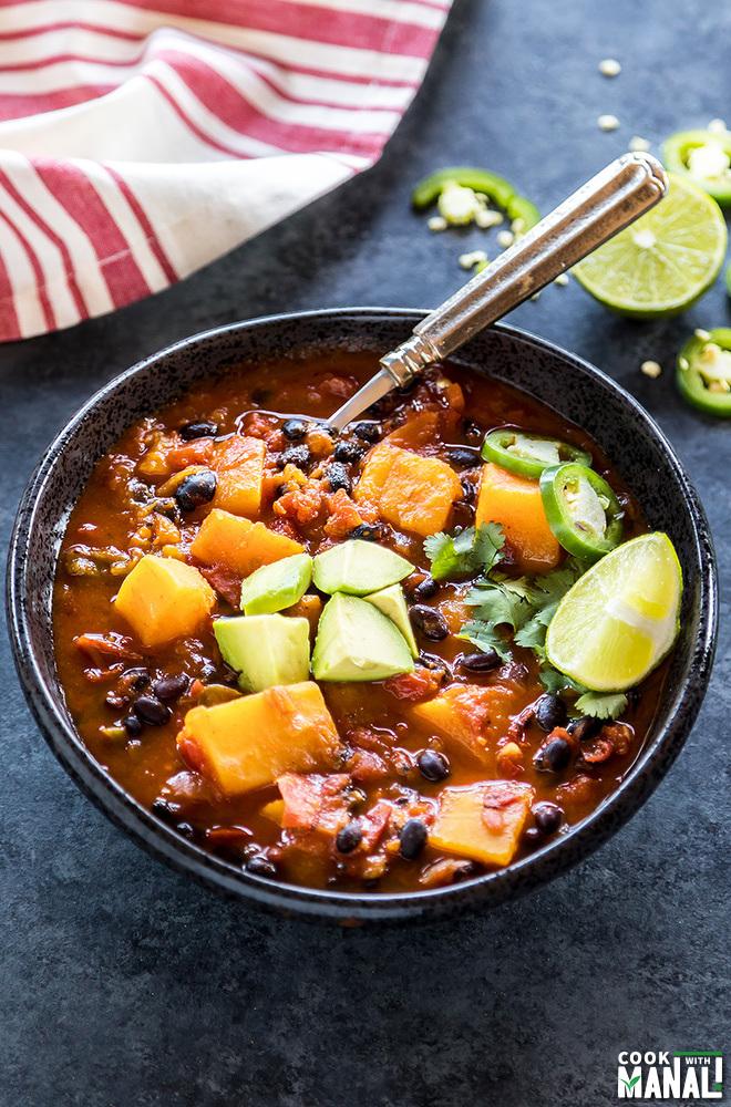 instant pot butternut squash chili
