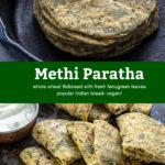 pinterest graphic for methi paratha