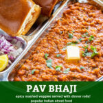 pinterest graphic for pav bhaji