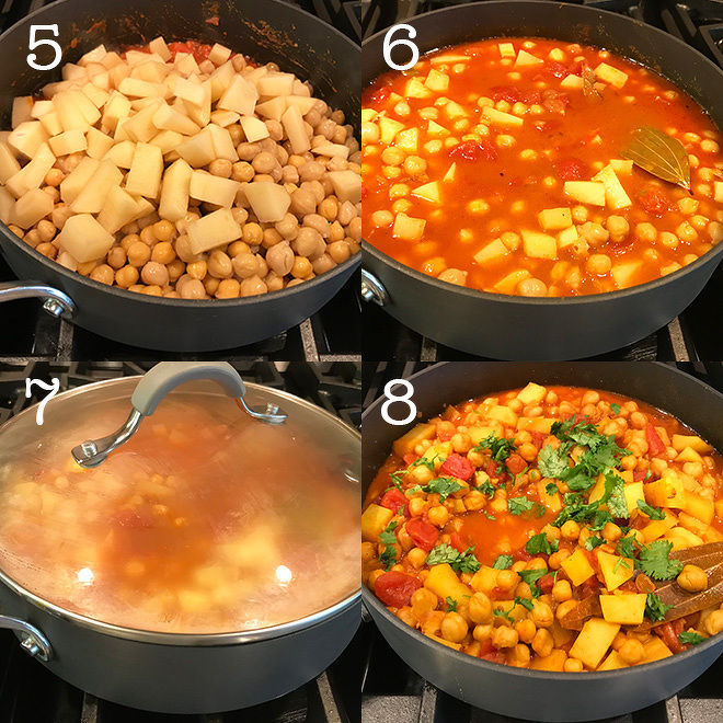 step by step recipe pictures of chana aloo