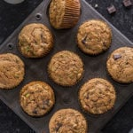 healthy zucchini muffins in a muffin tray