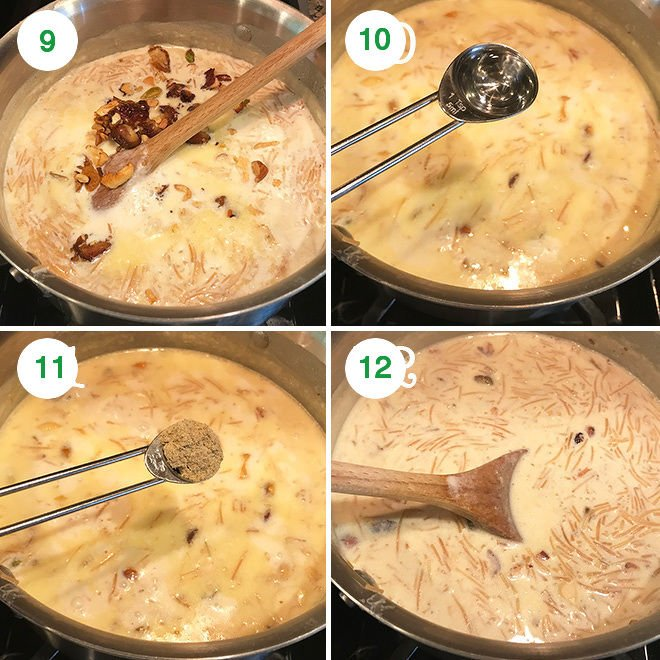 step by step pictures of making sheer khurma