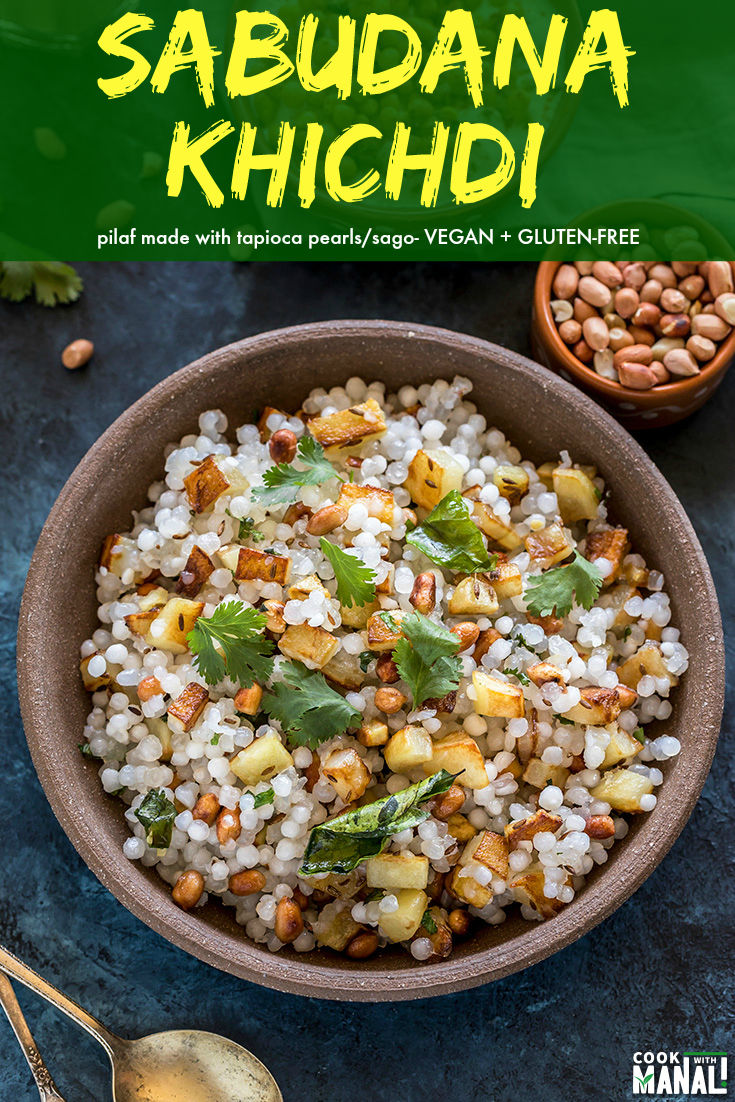 A pilaf made with tapioca pearls, Sabudana Khichdi is commonly prepared in Indian during the fasting season of Navratri. It's a simple dish yet so flavorful. #vegan #glutenfree #indian #khichdi