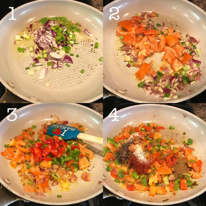 tofu scramble recipe step pictures