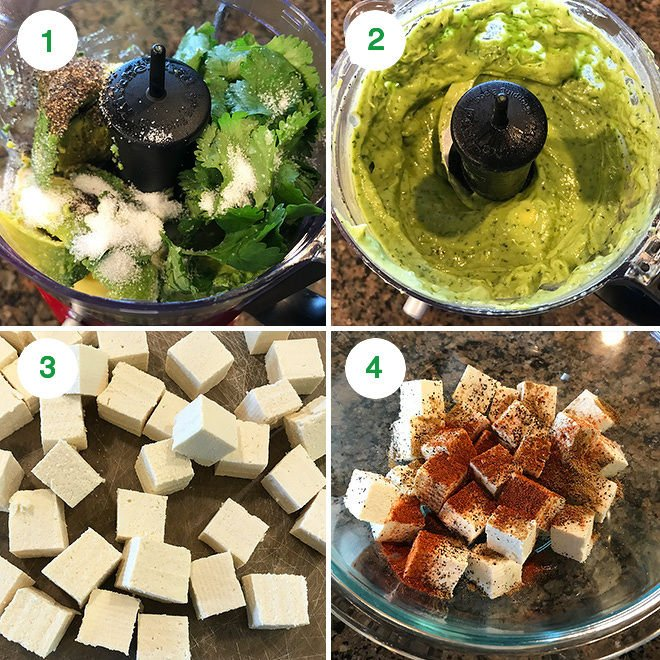 step by step pictures of making crispy tofu tacos