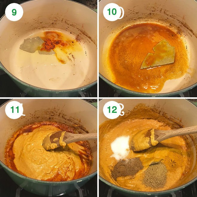 step by step pictures of making matar paneer