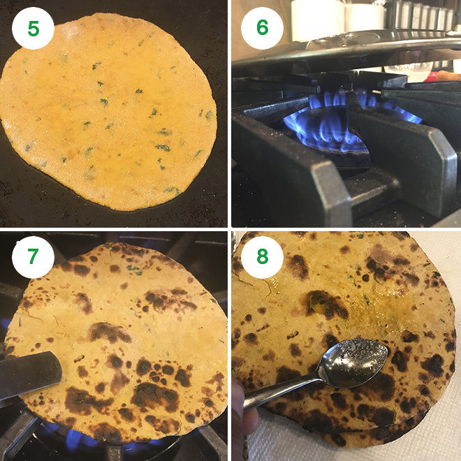 step by step pictures of making missi roti at home