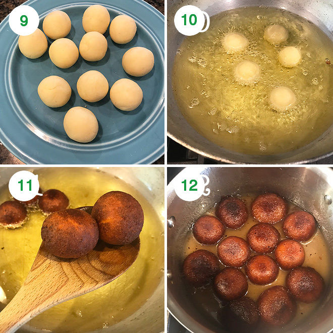 step by step pictures of making gulab jamun