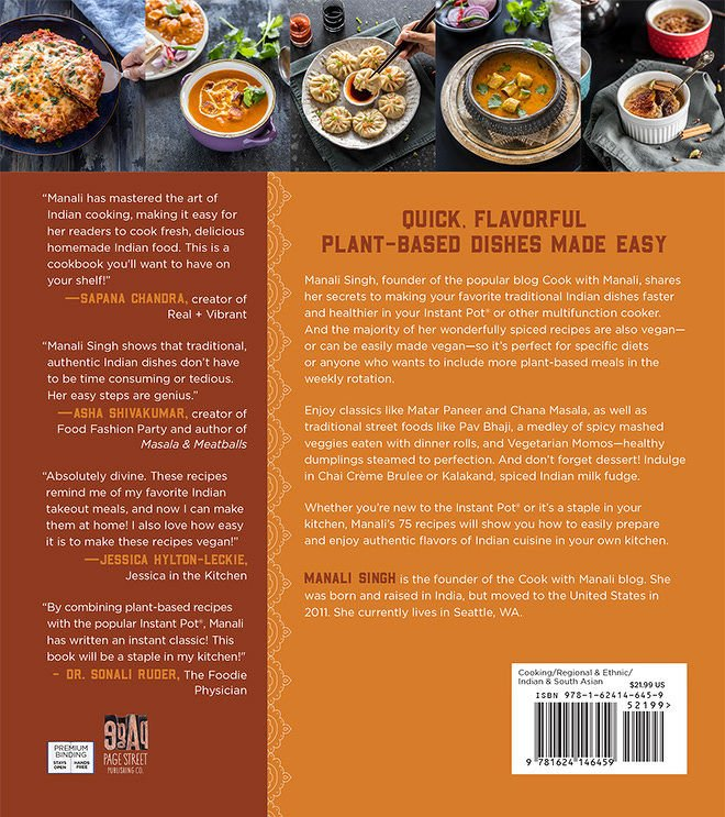 vegetarian indian instant pot cookbook cover