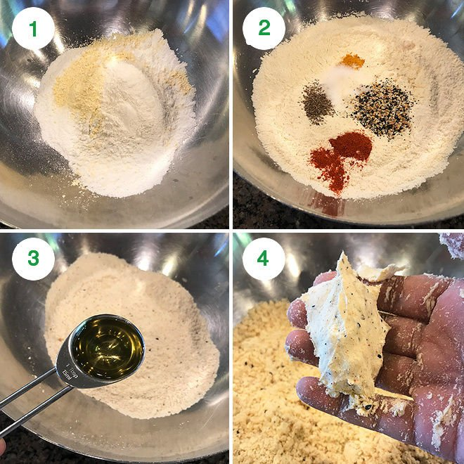 step by step pictures of making chakli