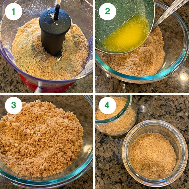 step by step pictures of making motichoor ladoo cheesecake jars